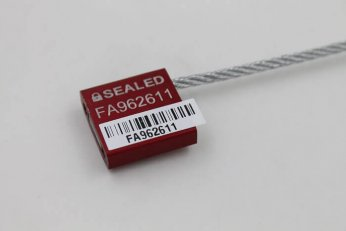 Aluminium body cable seal with removable security sticker