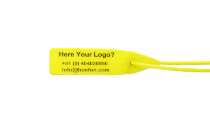 DSR-250 Plastic seal with your logo